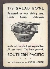 Single Swap Playing Card JOKER #D23 TRAIN SOUTHERN PACIFIC DINING CAR AD VINTAGE