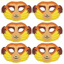 6 Meerkat Foam Masks - Safari Animal Masks for Children & Grown Ups - Masquerade
