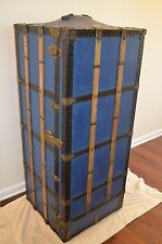 antique travel wardrobe steamer trunk chest vintage rare chest