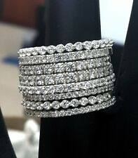 5ct Cocktail Party Ring inspired 925 Sterling silver Round 8 stackable ring gift