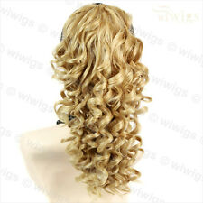 Spiral Curly Drawstring Hair Piece Blonde mix Ponytail Irish Dance Extension UK