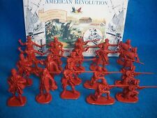 Accurate Revolutionary War Toy Soldiers American Militia (red Brown) (54MM) x 20