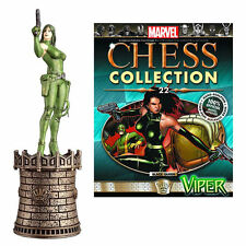 Eaglemoss Marvel Chess Piece Issue #22 Viper Black Queen Figure + Magazine NIP