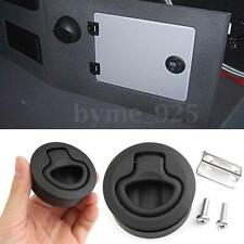 1Pc Black Boat Plactic Slam Latch Hatch Round Pull Latch 1/2''Door for M1-63 RV