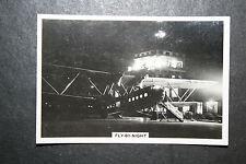 Imperial Airways  Handley Page HP42  Night Flight # Vintage Photo Card
