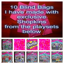 Shopkins 10 x Blind Bags with exclusive Shopkins from playsets - Lots of FUN!!!!