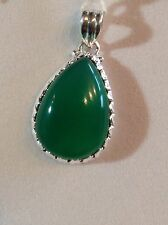 Sterling Silver 925 GREEN CHALCEDONY Pendant Not Enhanced Special Occasion
