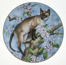 Cat Collector Plate Royal Stafford Siamese & Apple Blossoms Numbered 2921/10,000