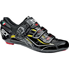 Sidi Genius 6.6 MEGA Road Lite Cycling Shoes Black Yellow Vernice US 8 EU 41.5