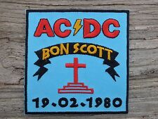 ECUSSON PATCH THERMOCOLLANT aufnaher toppa AC DC bon scott highway to hell rock