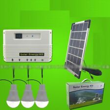 Solar Charging DC USB Phone Panel Kit Led light Fan Power 10W