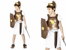 SOLDATO GRECO Armour Kids Costume Oro Body Armour Gladiator