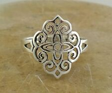 STUNNING .925 STERLING SILVER FILIGREE SWIRL RING size 10  style# r1856