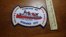 NEW YORK CITY FIRE  DEPARTMENT NYFD THE HARVEY FIRE BOAT     PATCH  BX F #5