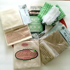 Cross Stitch Chicken Scratch Lot Pillow Bread Cover Schonfels Damask Linen Aida