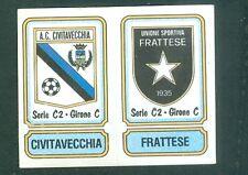 Figurina Calciatori Panini 1981-82! N.551 Scudetti Civitavecchia/Frattese!Ottima