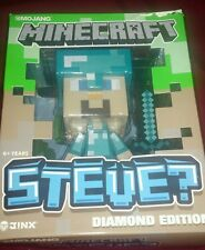 "Jinx Mojang Minecraft Diamond Edition Steve Vinyl  6"" Figure with Sword & Box"