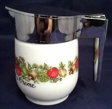 Vintage GEMCO Corning Spice Of Life Pot Creamer Pitcher Free Shipping