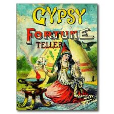 """*Postcard-""""The Gypsy...Fortune Teller"""" ...in Front of Tee-Pee- (B-305)"""