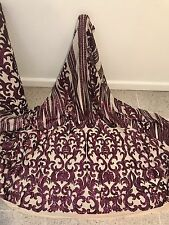 """GOLD 2WAY STRETCH MESH BURGUNDY SEQUINS EMBROIDERY LACE FABRIC 52"""" WIDE 1 YARD"""