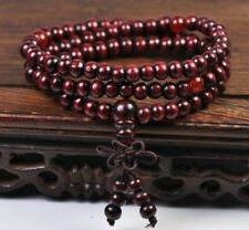 Sandalwood Buddhist Buddha Meditation 6mm 108 Prayer Bead Mala Bracelet Necklace