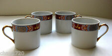 SET OF 4 DEMITASSE CUPS NISHIKI PATTERN BY FITZ & FLOYD