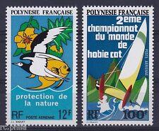 RC002853 POLYNESIE PA n° 82 / 83 - PROTECTION DE LA NATURE VOILIER MNH NEUF **