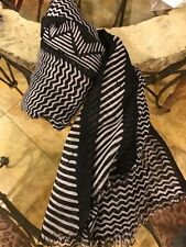 New Unreleased SILPADA Scarf, Black And White Tribal Print, GORGEOUS!!
