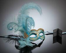 original venezianische Maske Augenmaske mit Federn Karneval Maskenball Fasching
