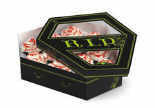Cupcake Display Box, RIP Coffin Shape Halloween Treat Box Cookies Candy Holds 12