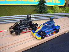 PAIR OF MINT COMPLETE  MICRO SCALEXTRIC KARTS - LOADS MORE CARS FOR SALE