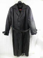 FULL LENGTH DUSTER TRENCH COAT PHASE 2 LEATHER JACKET MEN'S SZ LG L LARGE 42 44