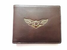 New Ralph Lauren RRL Dark Brown Leather Wings Logo Bifold Wallet