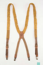 RRP €140 DIESEL BANIAK Wool Knitted X-Back Braces With Leather - From POPPRI