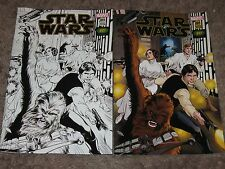 STAR WARS #1 Return to Marvel Comics ~Alan Davis VARIANT Color/B&W Emerald City
