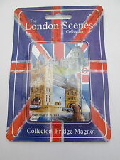 LONDON SCENES FRIDGE MAGNET- TOWER BRIDGE & ST PAUL'S - NEW