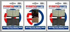 Laverda 750 S Formula 97-01 Front & Rear Brake Pads Full Set (3 Pairs)