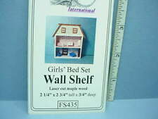 Dollhouse Miniature Girl's Bed Set Wall Shelf Kit #FS435-1/12th Scale Dragonfly