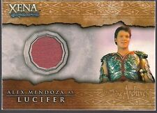 XENA WARRIOR BEAUTY & BRAWN ALEX ZEUS MENDOZA AS LUCIFER COSTUME RELIC CARD C13