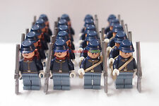 New Cowboy Minifigure 20 x America Civil War Army Soldier w Guns Custom Brand