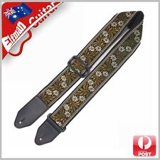 Guitar Strap Nylon Webbing Leather End Acoustic Electric Bass Pattern Forest