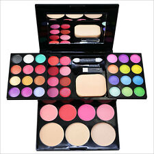 Hot   Full Color Pro Makeup Set Kit EyeShadow Lip Gloss Palette Blusher