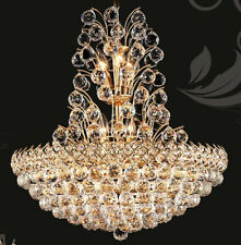 Palace Firework 16 light Crystal Chandeliers lighting Gold. foyer dining living