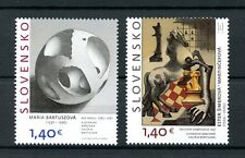 Slovakia 2016 MNH Slovak National Gallery 2v Set Chess Art Paintings Stamps