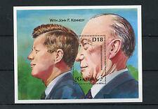 Gambia 1993 MNH Chancellor Konrad Adenauer with John F Kennedy 1v S/S JFK