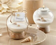 24 Sand Shell Tealight Candles Holder Beach Wedding Favors Decorations Q31704