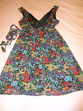 SZ 10 KATIES BLACK FLORAL BEADED DRESS BRAND NEW WITH TAGS