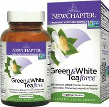 New Chapter- Green & White Tea Force -60 CT *ORGANIC* Cardio, Energy,Cell Health