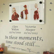 Personalised In These Moments Time Stood Wall Quotes Stickers Wall Decal p1