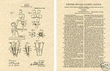 US Patent 1916 MICROSCOPE Art Print READY TO FRAME !! Harvey Ott Vintage Scope